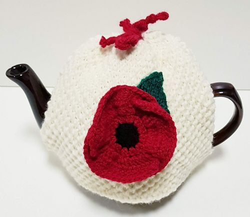 Tea Cosy Poppy for 4 to 6 Cup (1ltr) Pot